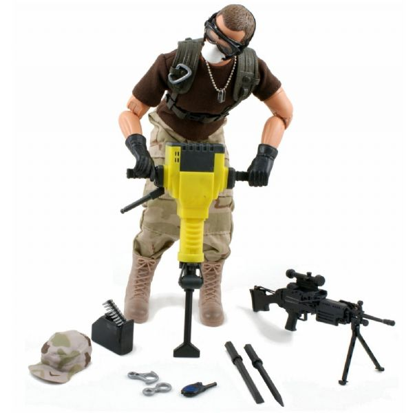 World Peacekeepers 12in Poseable Army Action Figure Combat Engineer 3+Yrs